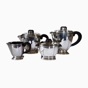 Parisian Art Deco Tea Set from Ravinet d'Enfert, 1920s