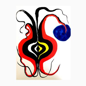 Behind the Mirror Lithograph by Alexander Calder, 1976