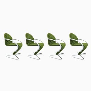 123 System Chairs by Verner Panton for Fritz Hansen, 1980s, Set of 4