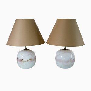 Lámparas de mesa Sakura de Michael Bang para Holmegaard, años 80. Juego de 2