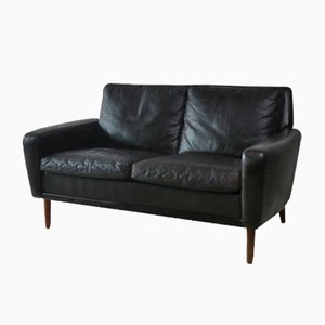 Mid-Century Danish Leather 2-Seater Sofa