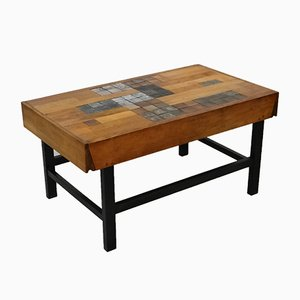 Vintage Ceramic Tiled Coffee Table from Perignem