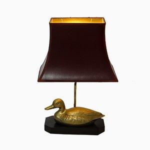Vintage Gold Duck Lamp, 1960s