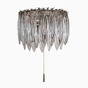 Vintage Crystal Silver Wall Lamp from Bakalowits & Söhne, 1960s