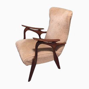 Vintage Dutch Teak Lounge Chair