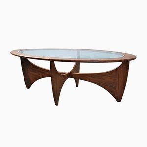Tavolino da caffè Astro ovale in teak di G-Plan, anni '70
