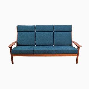 Dänisches 3-Sitzer Sofa aus Teak von Juul Kristensen für Glostrup Mobelfabrik