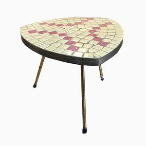 Vintage German Tile Side Table