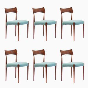 Chaises de Salon Vintage en Palissandre par Christian Linneberg, Set de 6
