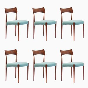 Vintage Rosewood Dining Chairs by Christian Linneberg, Set of 6