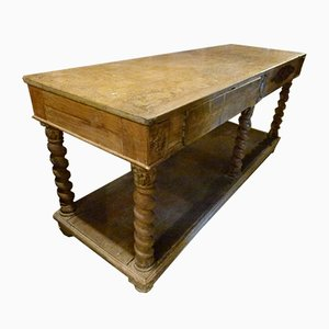 Antique Spanish Solid Wood Workbench