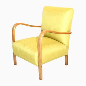 Mid-Century Polish Yellow Armchair