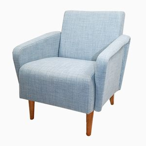 Vintage German Light Blue Armchair