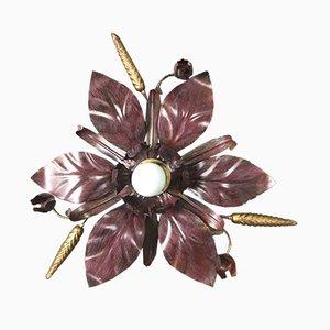 Lampada da parete o da soffitto vintage a forma di fiore di L&S Italy