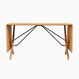 Tavolo da pranzo AT 304 in quercia di Hans J. Wegner per Andreas Tuck, Danimarca, anni '50
