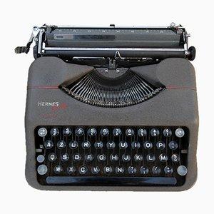 Máquina de escribir Baby gris de Hermès, años 50