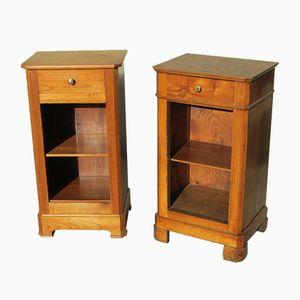 Antique Cherry Bedside Cabinets, Set of 2