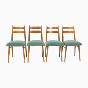 Vintage Green Dining Chairs, 1970s, Set of 4