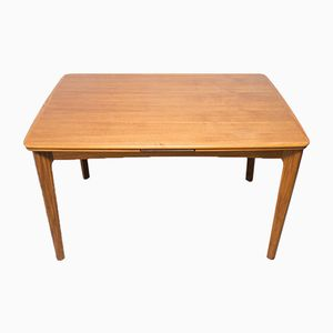 Extendable Teak and Walnut Dining Table, 1960s