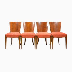 Art Deco H214 Dining Chairs by Jindřich Halabala for UP Závody, 1920s, Set of 4