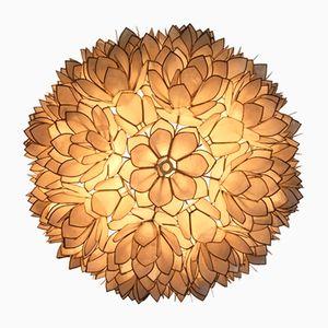 Wand- oder Deckenlampe in Blumen-Optik, 1970er