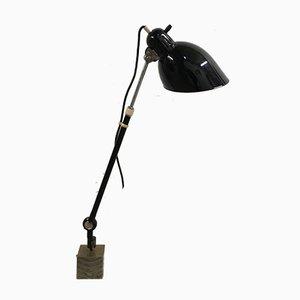 Bauhaus Lampe mit teleskopischem Gelenkarm von Christian Dell für Kaiser Idell, 1950er