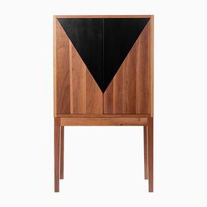 Mobile bar collezione Triangle fatto a mano di Aljoša Ilešič per Predsoba