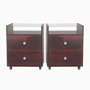 Italian Rosewood Nightstands by Carlo de Carli for Luigi Sormani, 1960s, Set of 2