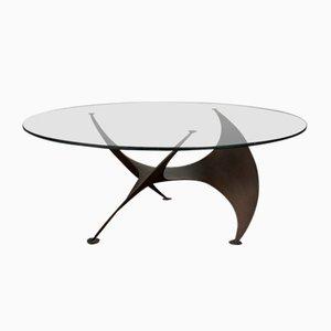 Table Basse Propeller Vintage en Bronze par Knut Hesterberg