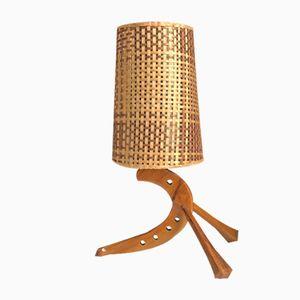 Lámpara de mesa escandinava, años 60