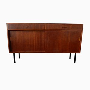 Vintage Teak Veneered Sideboard