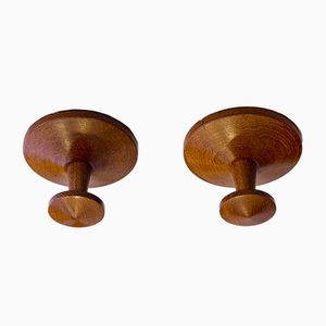 Vintage Teak Hooks by Kai Kristiansen for Aksel Kjersgaard, 1960s, Set of 2