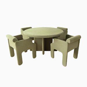 Viscontea Tisch & 4 Armlehnstühle von Sergio Mazza & Giuliana Gramigna, 1971