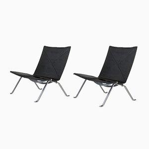 PK 22 Easy Chairs by Poul Kjaerholm for E. Kold Christensen, 1960s, Set of 2
