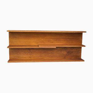 Vintage Modular Teak Wall Shelves, Set of 2