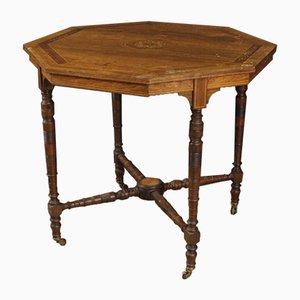 Tavolino in legno intarsiato, Regno Unito, anni '20