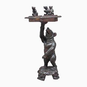 Portasigari intagliato a forma di orso, XIX secolo