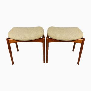Model 49 Teak Stools by Erik Buch for O.D. Møbler, 1960s, Set of 2