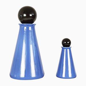 Bottiglie decorative in ceramica smaltata di L. Boscolo per Forma & Luce, anni '80, set di 2