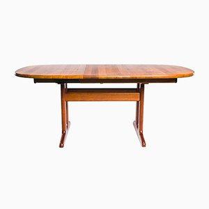 Mesa de comedor vintage ovalada de teca de Glostrup
