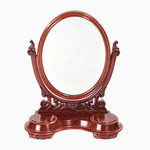 Antique Victorian Mahogany Table Mirror, 1860s