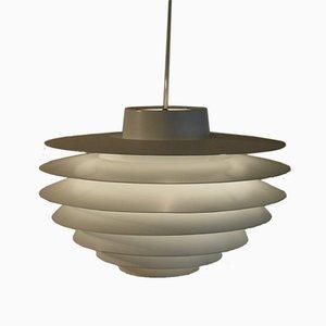 Lampada Verona vintage bianca di Svend Middelboe per Nordisk Solar