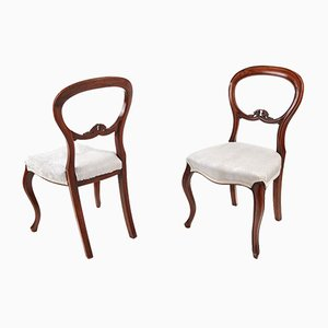 Victorian Balloon Back Chairs, 1860s, Set of 2