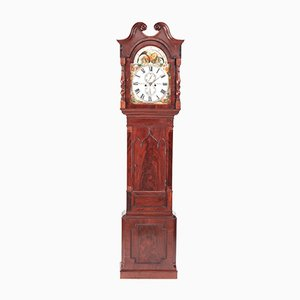 Horloge Phase de Lune Antique en Acajou, 1830s