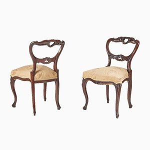 Victorian French Rosewood Side Chairs, 1850s, Set of 2