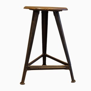 Vintage Industrial Tripod Stool by Robert Wagner for Rowac, 1930s