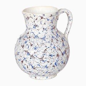 Glasierter belgischer Keramikkrug von Boch Frères