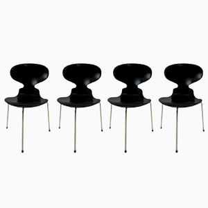Vintage 3100 Ant Chairs by Arne Jacobsen for Fritz Hansen, 1955, Set of 4
