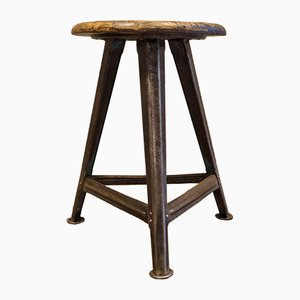 Industrial Tripod Stool by Robert Wagner for Rowac, 1920s