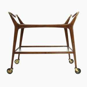Mid-Century Italian Serving Bar Cart by Ico Parisi for De Baggis, 1950s